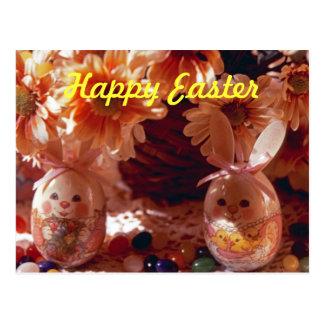Happy Easter PostCard-Decorative Eggs Postcard