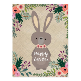 Happy Easter postcard easter bunny personalized