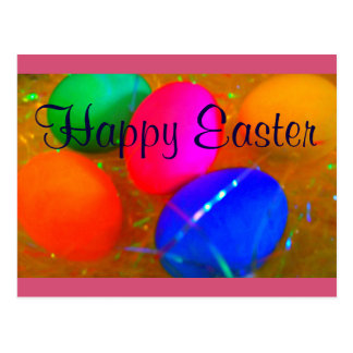 Happy Easter Postcard Easter Eggs