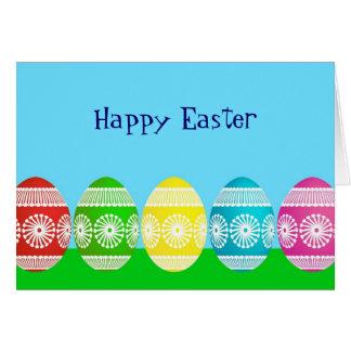 Happy Easter powder blue cute egg design Card