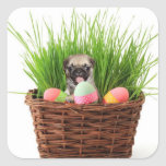 Happy Easter pug puppy Stickers
