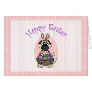 Happy Easter Pug Tees and Gifts for Kids, Adults Card