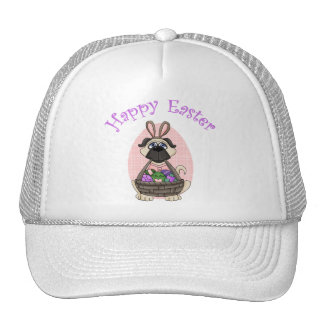 Happy Easter Pug Tees and Gifts for Kids, Adults Trucker Hat