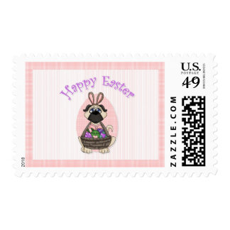 Happy Easter Pug Tees and Gifts for Kids, Adults Postage Stamps