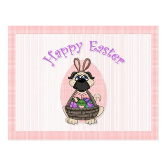 Happy Easter Pug Tees and Gifts for Kids, Adults Post Cards