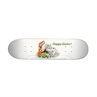 Happy Easter! Puppy, chicken, hare Skateboard Deck