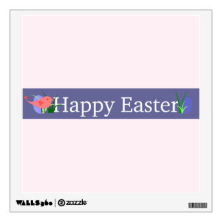 Happy Easter Purple Banner Wall Decal