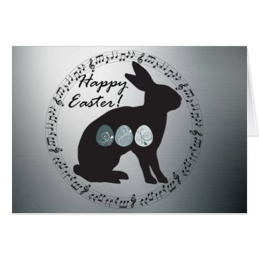 "Professional Business ""Happy Easter"", Rabbit, Elegant, Circle Card"