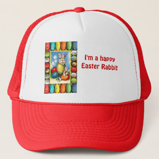 Happy Easter rabbits Trucker Hat