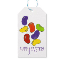 Happy Easter Rainbow Jelly Bean Beans Candy Tag