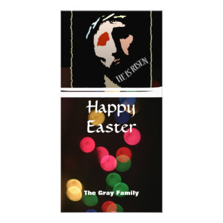 Happy Easter Religious Jesus Bible Verse Quote Photo Card