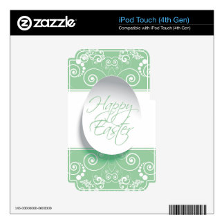 Happy Easter Ribbon (Green) iPod Touch 4G Skin