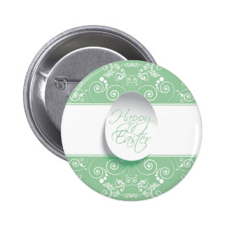 Happy Easter Ribbon (Green) Pinback Button