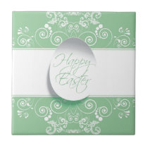 Happy Easter Ribbon (Green) Tile