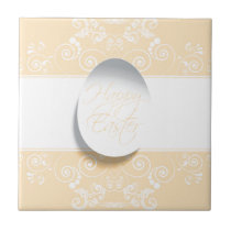 Happy Easter Ribbon (Yellow) Tile