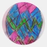 Happy Easter Runder Sticker