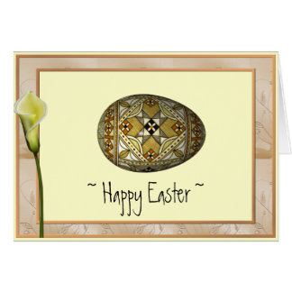 Happy Easter Russian Painted Egg Card