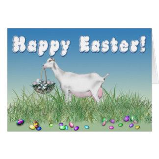 Happy Easter Saanen Goat Greeting Card