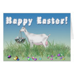 Happy Easter Saanen Goat Greeting Card