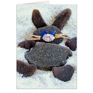 Happy Easter Sea glass Bunny Card