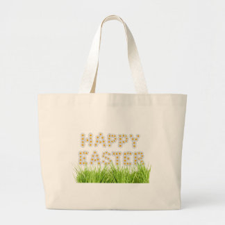Happy Easter Sign Canvas Bags