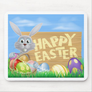 Happy Easter sign Mousemats
