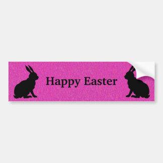 Happy Easter Silhouette Rabbits Bumper Sticker