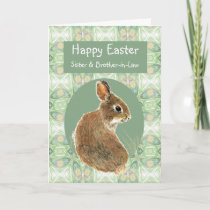 Happy Easter Sister Brother-in-Law Bunny Rabbit Holiday Card