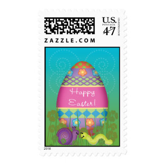 Happy Easter Snail & Inch Worm Postage