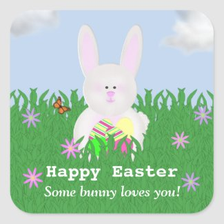 Happy Easter: Some Bunny Loves You Stickers sticker