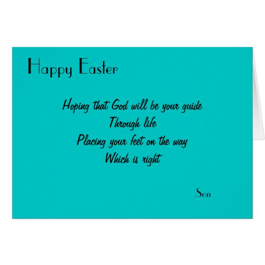 Happy Easter son greeting cards