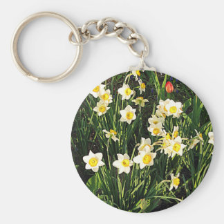 Happy Easter / Spring Basic Round Button Keychain