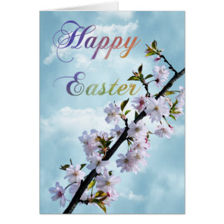 Happy Easter Spring Blossom Card