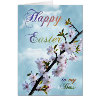 Happy Easter Spring Blossom for Boss Card