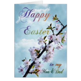 Happy Easter Spring Blossom for Mom & Dad Card