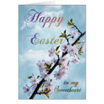 Happy Easter Spring Blossom for Sweetheart Greeting Card