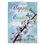 Happy Easter Spring Blossom Greeting Card