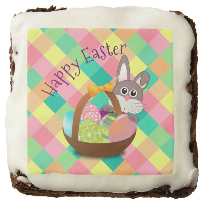 Happy Easter Spring Checkerboard Pattern