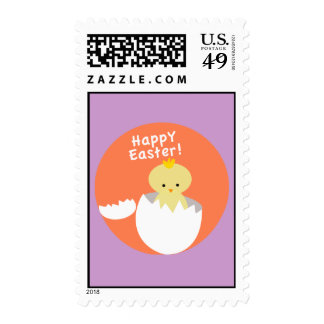 Happy Easter Spring Chick Hatching Egg Stamps