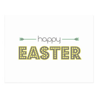 happy easter spring yellow mint green simple postcard