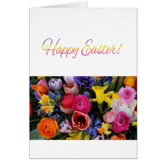 Happy Easter Springflower bouquet Card