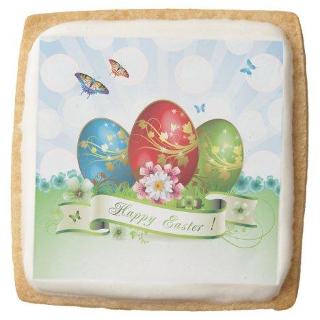 Happy Easter Square Premium Shortbread Cookie