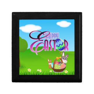 Happy Easter Square Tile Gift Box