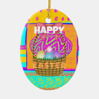Happy Easter. Stay Blessed as Always Ceramic Ornament