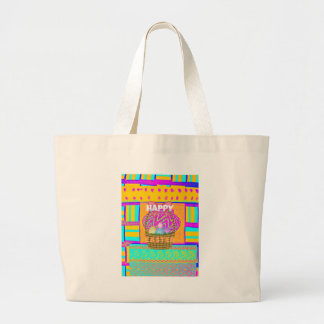Happy Easter. Stay Blessed as Always Large Tote Bag
