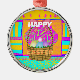 Happy Easter. Stay Blessed as Always Metal Ornament