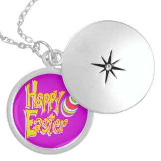 Happy Easter - Sterling Silver Necklace