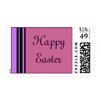 Happy Easter stripes Postage Stamp