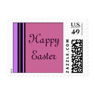 Happy Easter stripes Postage