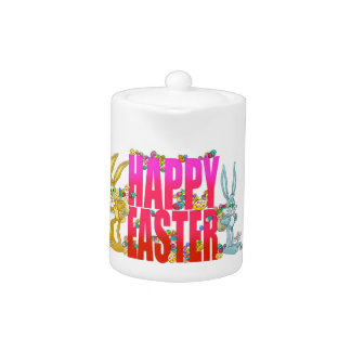 Happy Easter. Teapot